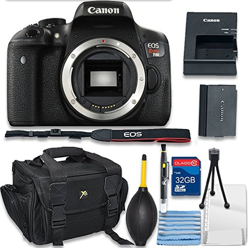 Canon EOS Rebel T6i Digital SLR Camera Body Only Bundle incl