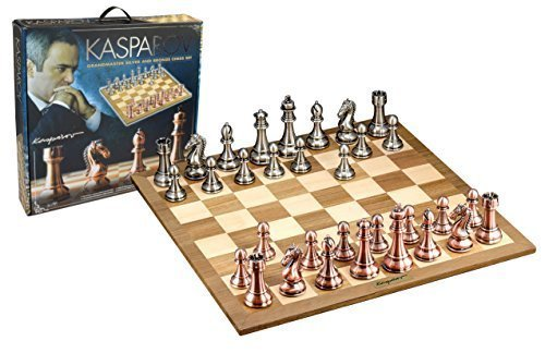 Kasparov Grandmaster Silver and Bronze Chess Set by Merchant Ambassador