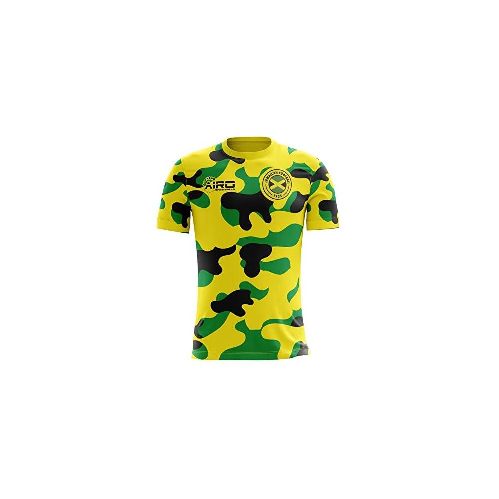 832c137ec Airo Sportswear 2018-2019 Jamaica Home Concept Football Soccer T-Shirt  Jersey