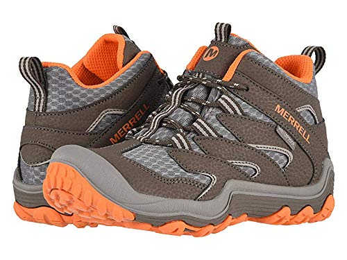 Merrell Kids Boy's Chameleon 7 Access Mid Waterproof (Little Kid/Big Kid) Gunsmoke/Orange 13 M US Little Kid