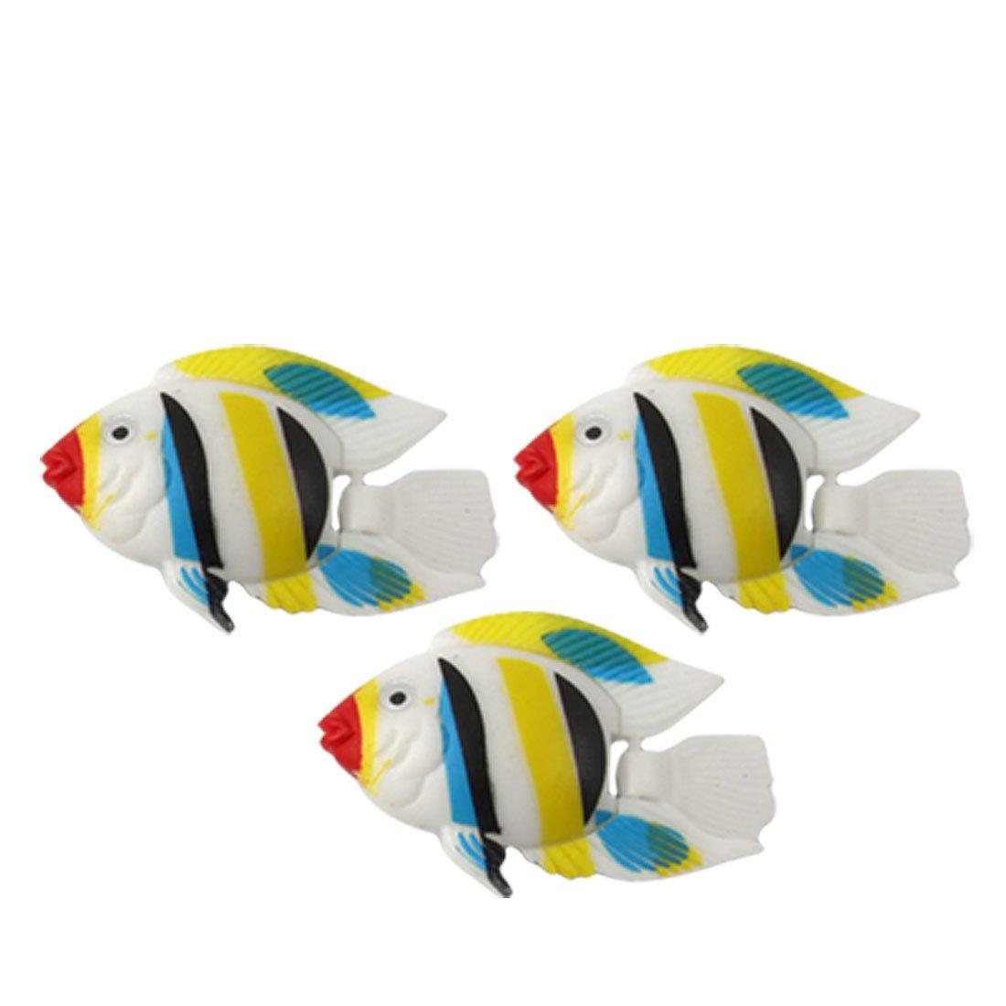 Water & Wood 3 Pcs Multicolor Plastic Simulated Fish Aquarium Decor