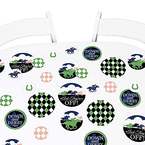 Big Dot of Happiness Kentucky Horse Derby - Horse Race Party Giant Circle Confetti - Party Decorations - Large Confetti 27 Count]()