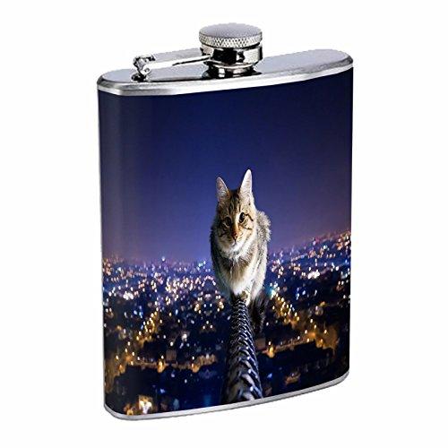【再入荷】 Funny Catフラスコd8 B00VAZG4GI 8オンスステンレススチールキュートペットSilly Kittens Playful Catフラスコd8 Animals Funny B00VAZG4GI, 八幡西区:0d389883 --- tadevakaryam.com