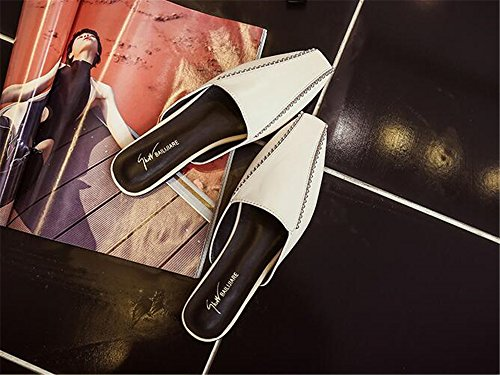 Square Lok Closed excellent White Toe Shoes Fu Retro Head c Shoes Flat Shoes Women's 5qnqAIwY