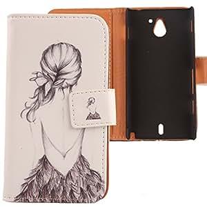 Lankashi Leather Cover Skin Protection Case for Sony Ericsson Xperia Sola Mt27i Back Girl Design