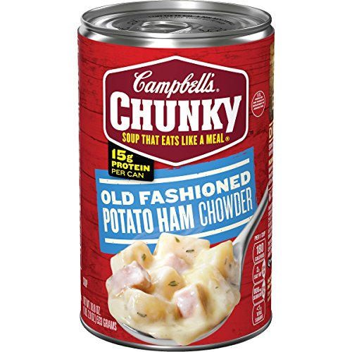 Campbell's Chunky Old Fashioned Potato Ham Chowder, 18.8 oz. Can