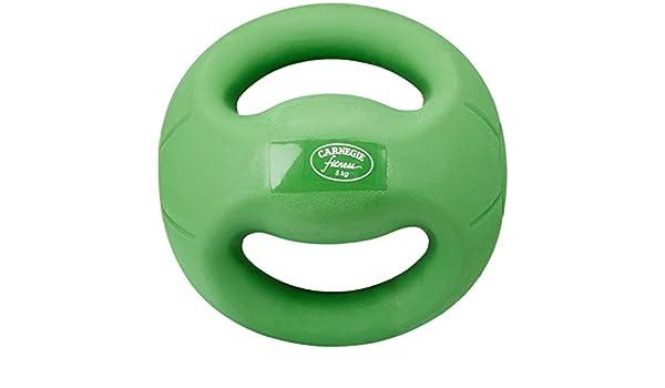 Carnegie 5 kg de Fuerza de fútbol balón Medicinal con Asas Fitness ...