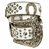 Luxury Divas Western Rhinestone Studded Belt With Horse Shoe