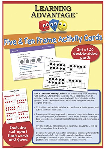Learning Advantage 7407 Five & Ten Frame Activity Cards, Gra