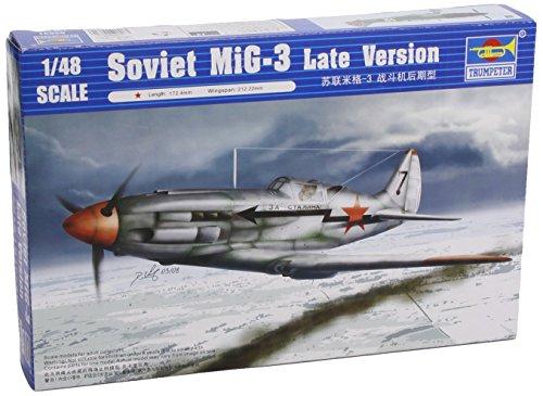 Trumpeter 1/48 MiG3 Late Version Soviet Fighter Model - Kit Soviet Fighter