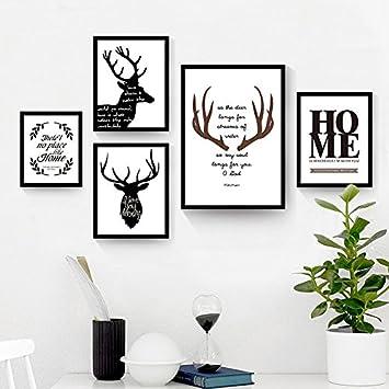 TAO Dekoration Malerei Für Wohnzimmer Schwarz Und Weiß Kreative Gemälde  Schlafzimmer Foto Wand Portfolio Abstrakte Wandbilder