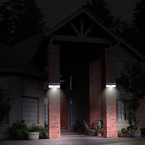 Super Bright 44 Big LED Motion Sensor Solar Powered Wireless Security Wall Outdoor Garden Ponds Accent Lighting Pond Decor Lamp Finials Lights Three Smart Modes Weatherproof Easy Install Green Tech by broSolar (Image #3)