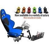 Openwheeler GEN2 Racing Wheel Stand Cockpit Blue on Black | Fits All Logitech G29 | G920 | All Thrustmaster | All Fanatec Wheels