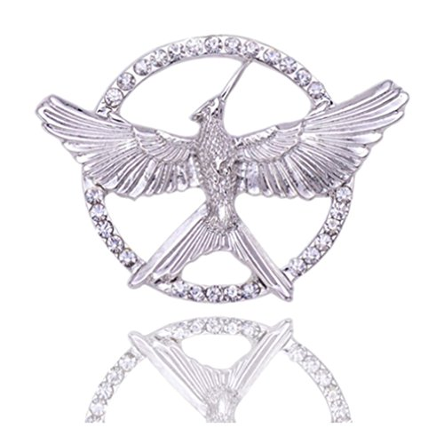 Winuxury Women's HUNGER GAMES Mockingjay Ornament Katniss Cosplay Parties Costume Filigree Brooch (The Hunger Games Costumes)