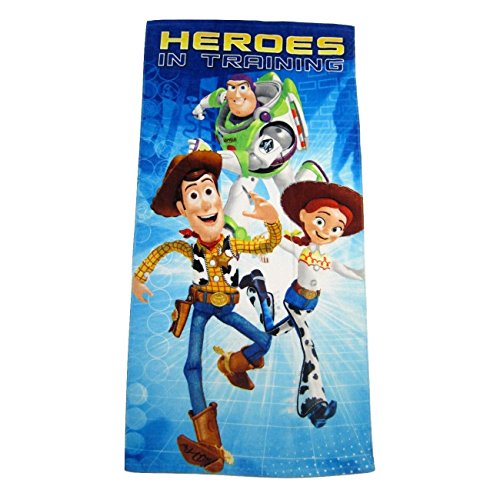 Disney Pixar Toy Story Woody, Buzz Lightyear, and Jessie Clubhouse Fiber Reactive Beach Towel - Heroes In Training (Story Bag Toy Sleeping)