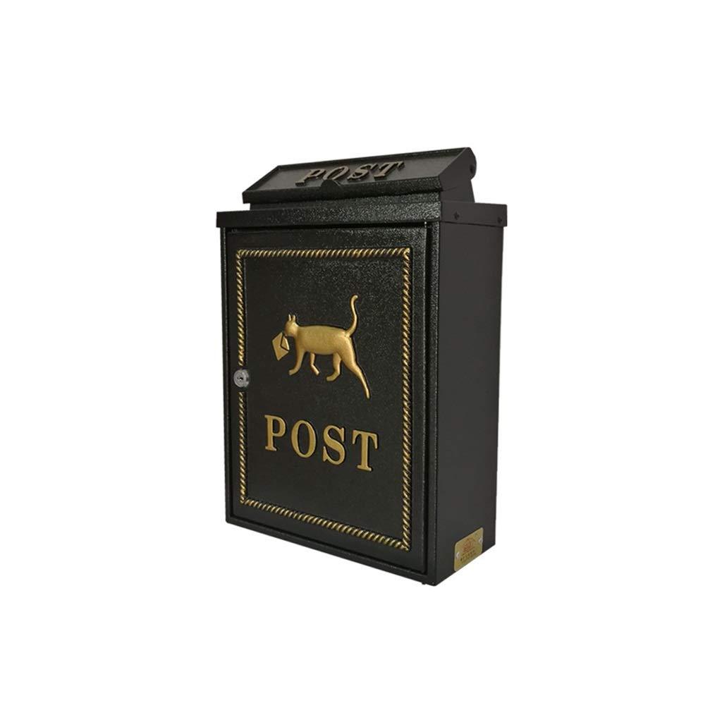 YQCS●LS ヨーロッパの古典的な別荘メールボックス、メールボックスのレターボックスアンティークメタリック、 - ビンテージ手紙メールポストボックス   B07TQBCKJ5