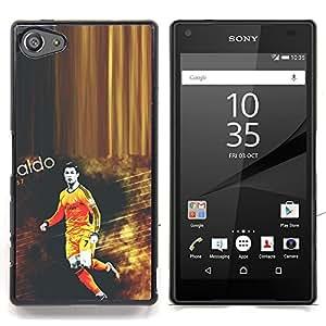 - Ronaldo Soccer Star - - Cubierta del caso de impacto con el patr??n Art Designs FOR Sony Xperia Z5 compact / mini Queen Pattern