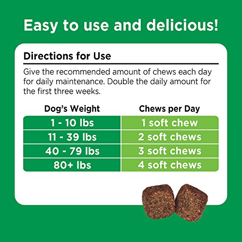 Image of Solid Gold Glucosamine & Joint Health Chews for Dogs; Natural, Holistic Grain-Free Supplement with Glucosamine, MSM & Chondroitin; 90ct