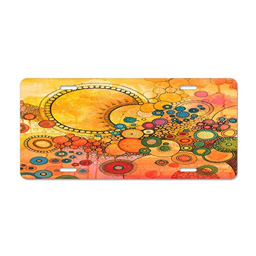 (Kingsinoutdoor Un Nouveau Soleil Doodle 12X6Inches Blessed Series Car Tag Blessed License Plate Cover)