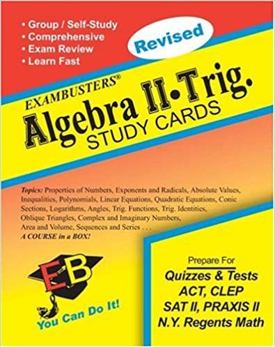 Ace's Algebra 2-Trig Exambusters Study Cards (Ace's Exambusters