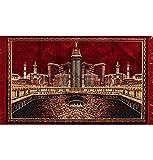 Large Islamic Velvet Area Rug Carpet Wall Tapestry Muslim Group Prayer Rug Mecca Masjid Al Haram Kaba