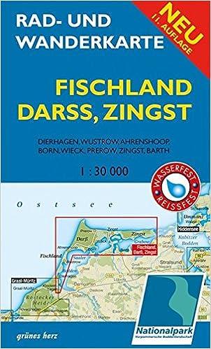 Fischland Darß Zingst Karte.Rad Und Wanderkarte Fischland Darß Zingst Mit Dierhagen Wustrow