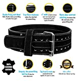 HHR Power Lifting Belt Suede Leather Double Prong