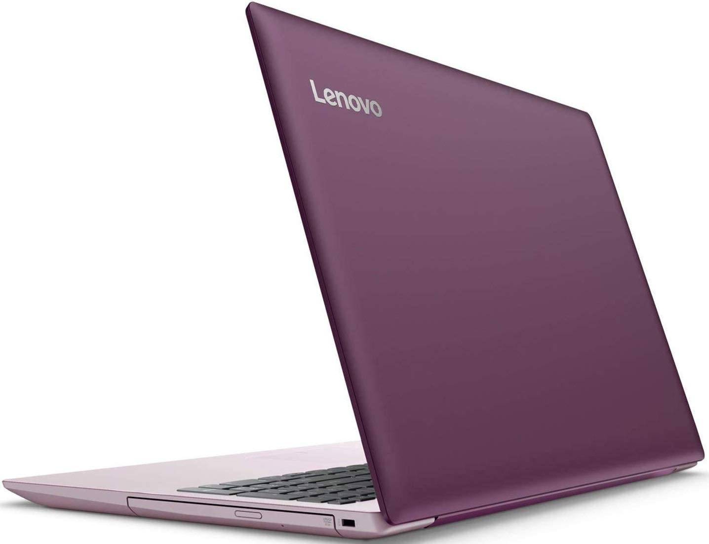 Newest Lenovo Ideapad 320 15.6 inch HD Premium Laptop, Intel Celeron N3350 Dual-Core, 4GB Memory, 128GB SSD, Bluetooth, Ethernet, USB 3.0, DVD-RW, 802.11ac, Webcam, Windows 10, Plum Purple