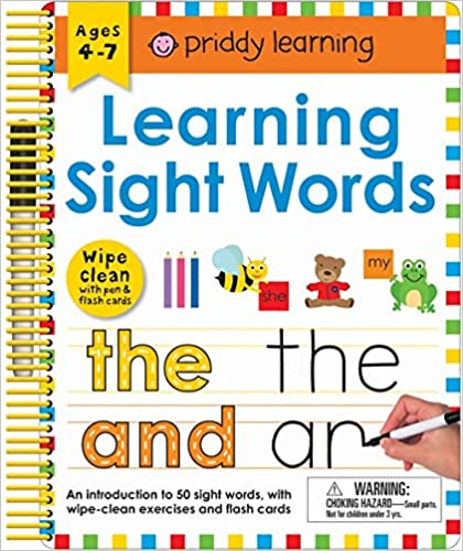 Learning Sight Words Includes a Wipe-Clean Pen and Flash Cards! Wipe Clean