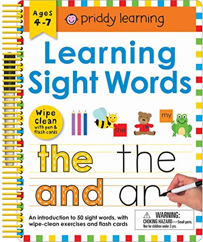 Wipe Clean: Learning Sight Words: Includes a Wipe-Clean Pen and Flash Cards! (Wipe Clean Learning Books) (Sight Words Esl)