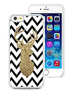 Personalize offerings iPhone 6 Case,Chevron Christmas Deer White iPhone 6 4.7 Inch TPU Case 4