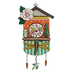 Allen Designs Forest Friends Birdhouse Pendulum Clock
