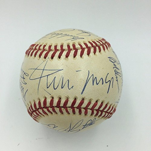(Willie Mays Stan Musial Ernie Banks Joe Cronin Whitey Ford Signed Baseball - PSA/DNA Certified - Autographed Baseballs)