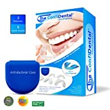 The ConfiDental - Pack of 5 Moldable Mouth Guard for Teeth Grinding Clenching Bruxism, Sport Athletic, Whitening Tray, Including 3 Regular and 2 Heavy Duty Guard (3 (lll) Regular 2 (II) Heavy Duty): more info