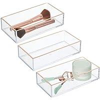 mDesign - Cosmetica-organizer in 3-delige set - opbergbak/bergruimte voor make-up - voor badkamer en slaapkamer - voor…