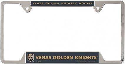 Vegas Golden Knights Metal License Plate Frame 2 mount holes