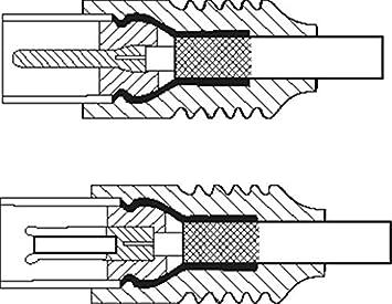 1aTTack Cable coaxial para antena conector coaxial F a conector coaxial F, doble apantallamiento, 75db 85db 100db 110 db 120 db 125 db