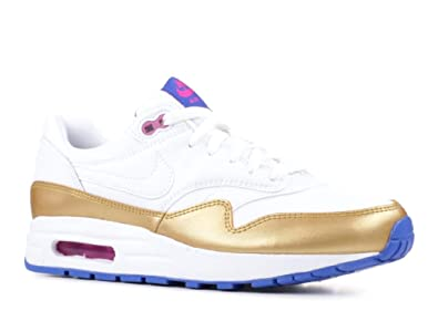 Max Shoes Kids' 807605 Whitemetallic Gold 1 Nike Air 1037 M Big QshdCtr