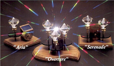 Silent Symphony Solar Spinning Crystal Serenade Double Crystal Model by Silent Symphony