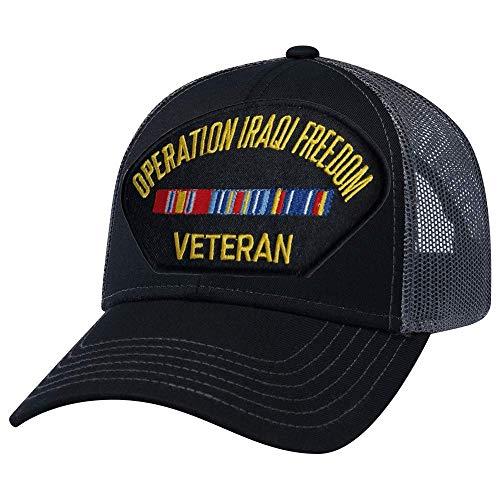 Military Productions Operation Iraqi Freedom Veteran Mesh Back Cap ()