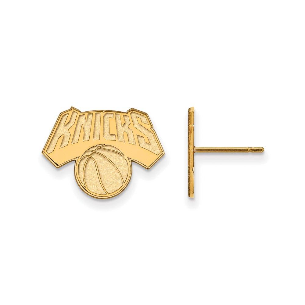 NBA New York Knicks Post Earrings in 14K Yellow Gold