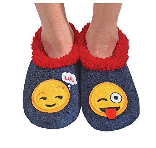 Emoji Splitz Womens Socks Snoozies Slipper Large Classic Applique 4qYzwxRU