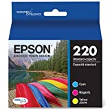 Epson 220 DURABrite Ultra Ink Cartridge, Combo Pack (T220520)