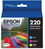 Epson T220520 DURABrite Ultra Color Combo Pack Standard Capacity Cartridge Ink (WF-2760, WF-2750, WF-2660, WF-2650, WF-2630, XP-424, XP-420, XP-320)