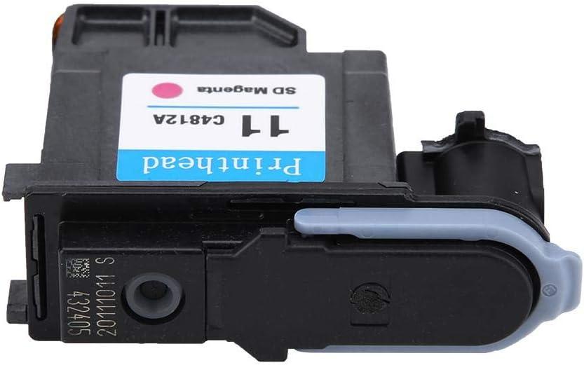 Samfox Druckkopf Natural-Druckkopf Kein Papierstau Druckkopf C4812A Kompatibel mit der Serie H-P 500 510 800 rot