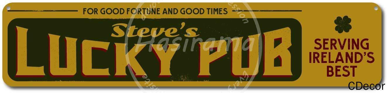 Banda de Estrella Fiesta caf/é d/ía de San Valent/ín Bar para decoraci/ón de Granja Restaurante Chen Nian Placa de Metal con dise/ño de Pub irland/és de la Suerte Arte Divertido