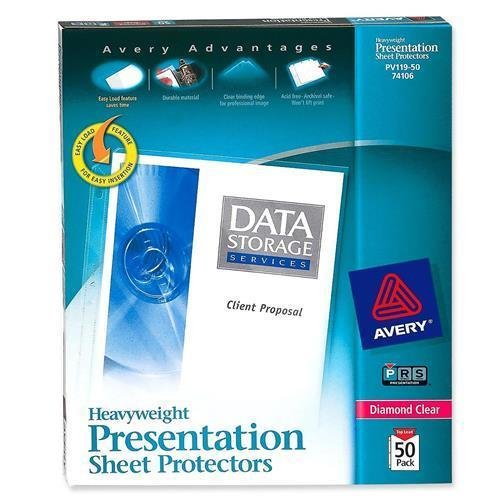 PV119-50 Avery Diamond Clear Top Loading Sheet Protector - Letter 8.50