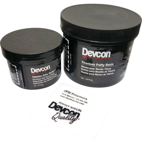 Devcon 10760 Gray Titanium Putty, 1 lb. Can by Devcon