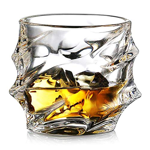 Ecooe Crystal Whiskey Glasses Old Fashioned Whiskey Glass Scotch Whiskey Glasses Set of 2 Whiskey Tumbler Bourbon Glasses Set Glassware Whiskey Drinking Glass Gift Set 320ml