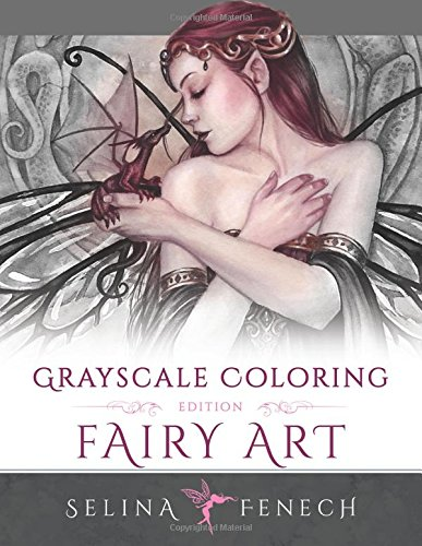 Fairy Art Grayscale Coloring Selina product image